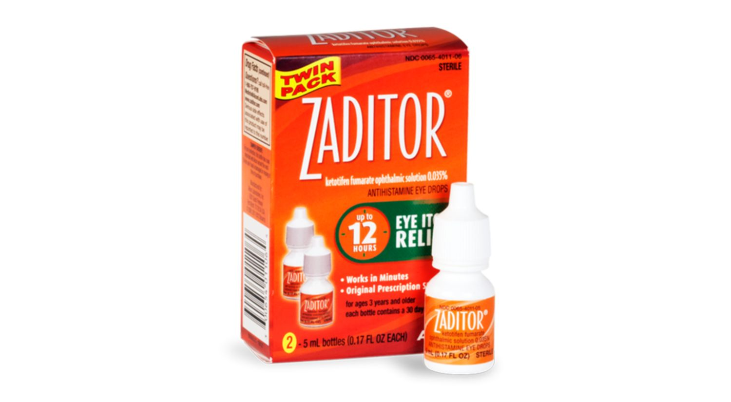 ZADITOR® Eye Drops 2 pack