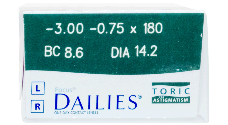 Focus DAILIES Toric 30 pack