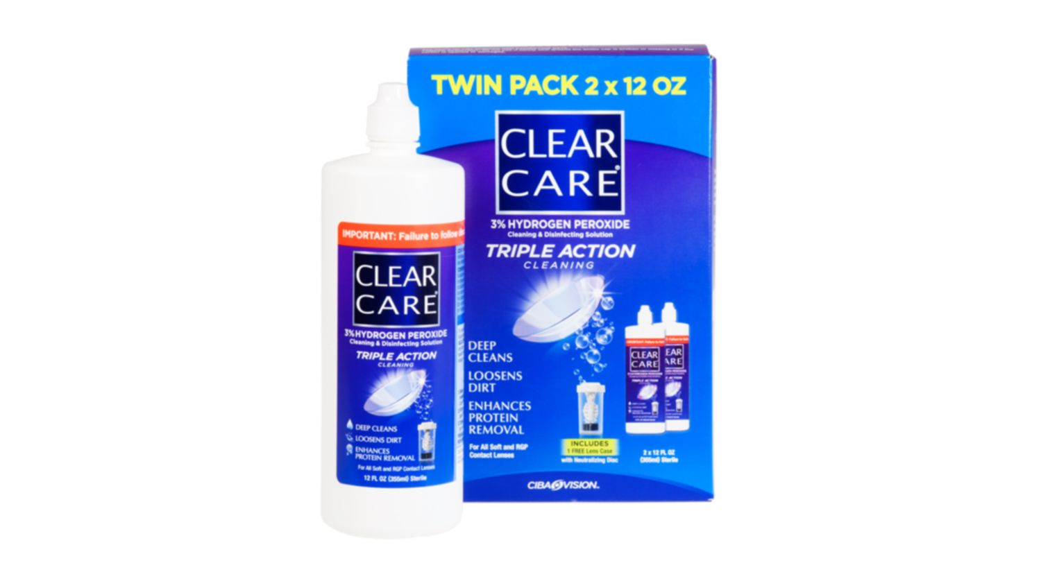 CLEAR CARE 2 pack